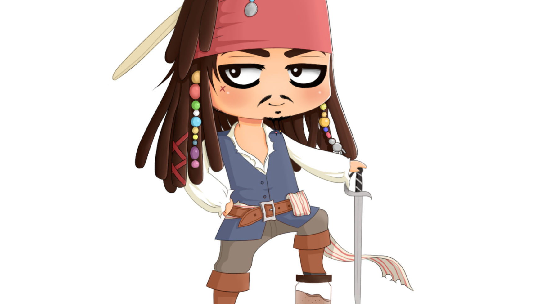 Джек воробей и пиратка