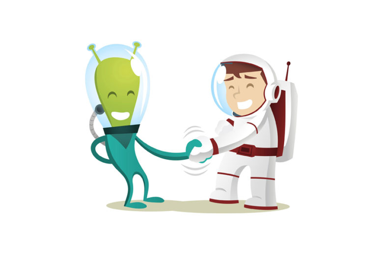 Космонавт и Инопланетянин