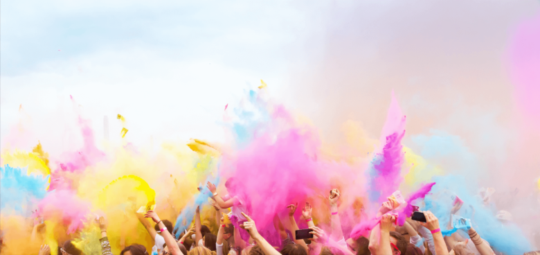 Дискотека с красками Holi